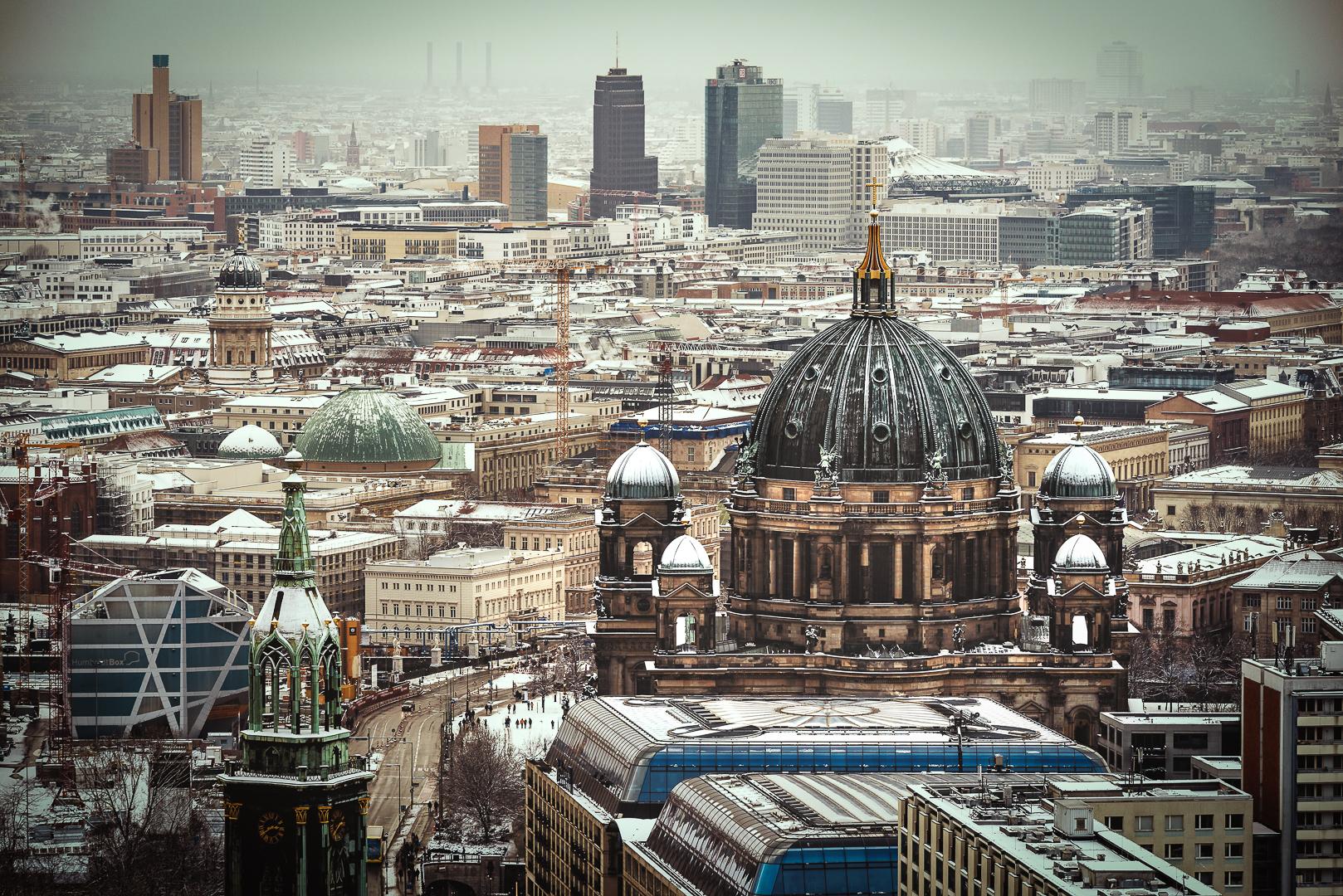 Berlin, Berliner Dom, Winter's Day, 2016, Skyline, panorama, Potsdamer Platz,