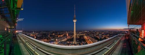 Berlin Skyline, 13 Einzelaufnahmen, Nikon D810, Nikkor 14-24 @20mm, PS CC, 2015