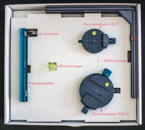 Lieferumfang des Novoflex VR Pro II Systems