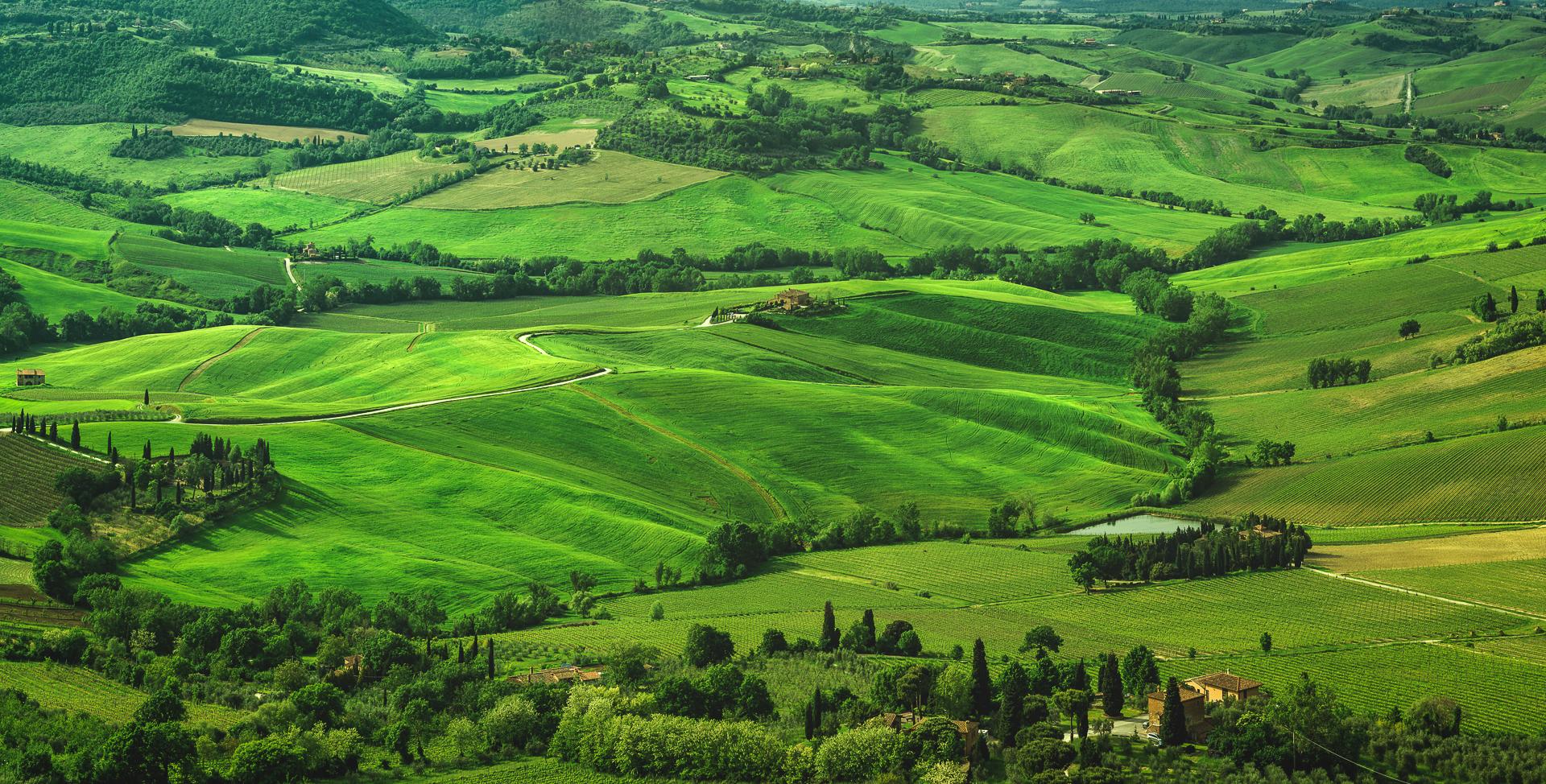 Montepulciano, Landscape Panorama, Tuscany, Italy, 2014