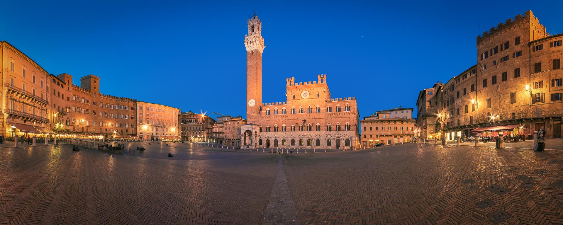 Italy, Tuscany, Siena, Panorama, Blue Hour, 2014