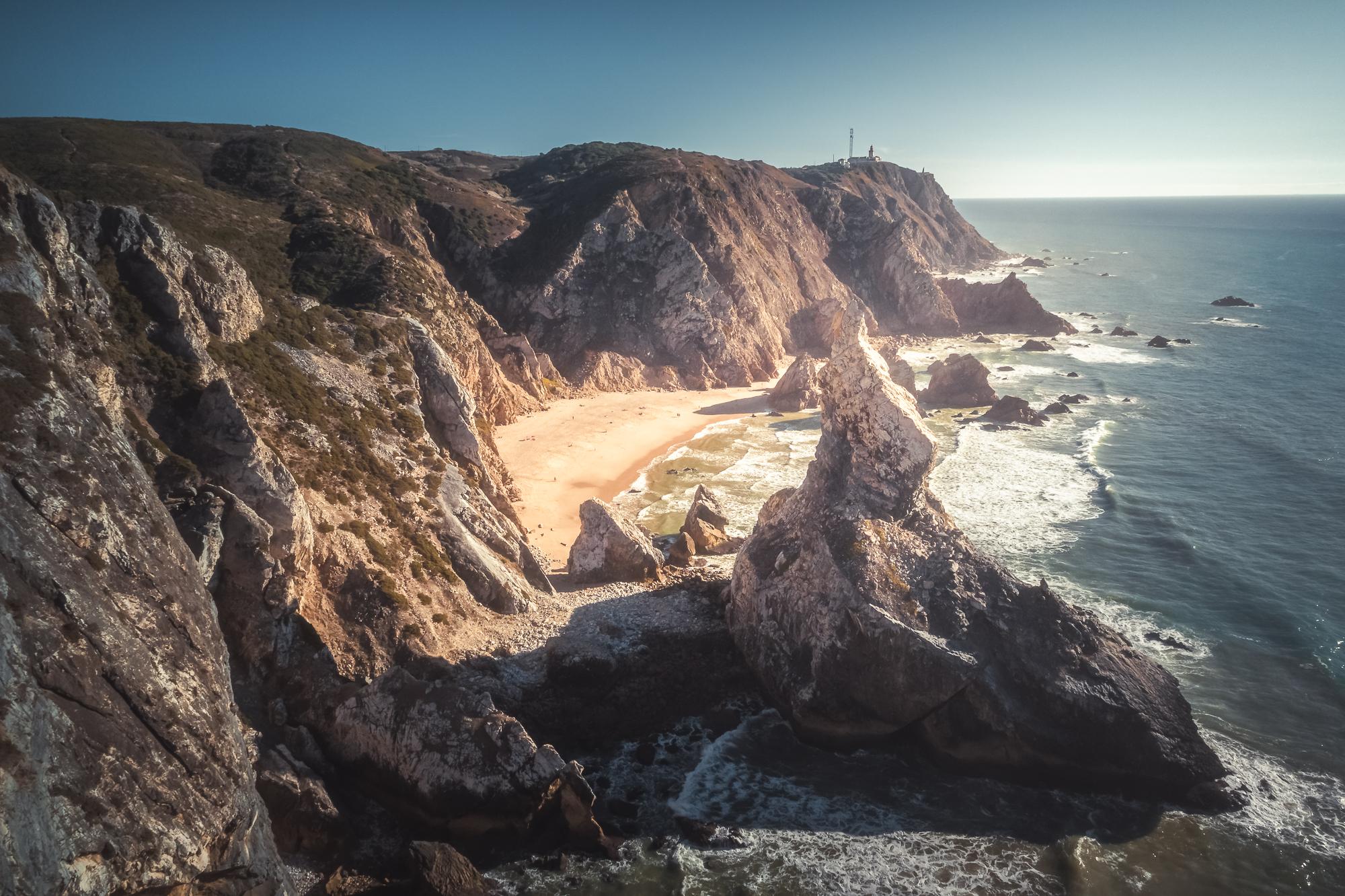 Portugal, Praia da Ursa, beach, Strand, Felsen, Klippen, Rocks, Cliffs, Landscape, Landschaft, Natur, Nature, Sunset, Sonnenuntergang, Travel, Reise, Blue Hour, Blaue Stunde, DJI, Phantom 4 Pro