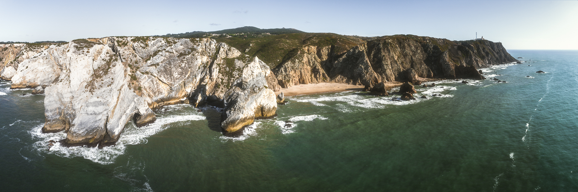 Portugal, Praia da Ursa, beach, Strand, Felsen, Klippen, Rocks, Cliffs, Landscape, Landschaft, Natur, Nature, Sunset, Sonnenuntergang, Travel, Reise, Blue Hour, Blaue Stunde, DJI, Phantom 4 Pro